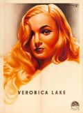 "Movie Posters:Miscellaneous, Veronica Lake Personality Poster (Paramount, 1944). Full BleedFrench Affiche (23"" X 31"").. ..."