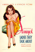 "Movie Posters:Drama, Ladies They Talk About (Warner Brothers, 1933). One Sheet (27"" X 41"") Alberto Vargas Artwork.. ..."