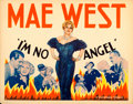 "Movie Posters:Comedy, I'm No Angel (Paramount, 1933). Half Sheet (22"" X 28"") Style A....."