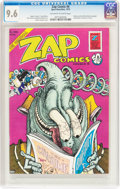 Bronze Age (1970-1979):Alternative/Underground, Zap Comix #6 (Print Mint, 1973) CGC NM+ 9.6 Off-white to white pages....