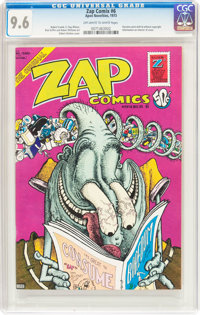 Zap Comix #6 (Print Mint, 1973) CGC NM+ 9.6 Off-white to white pages