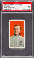 Baseball Cards:Singles (Pre-1930), 1909-11 T206 El Principe De Gales Ty Cobb (Portrait, Red) PSA NM 7- The Highest Graded EPDG Example! ...