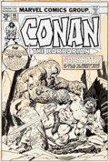 Original Comic Art:Covers, Gil Kane, John Buscema, and John Romita Sr. Conan theBarbarian #46 Cover Original Art (Marvel, 1975)....