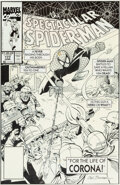 Original Comic Art:Covers, Sal Buscema Spectacular Spider-Man #177 Cover Original Art(Marvel, 1991)....