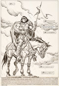 Original Comic Art:Splash Pages, John Buscema and Ernie Chan Conan the Barbarian #189 SplashPage 1 Original Art (Marvel, 1986)....