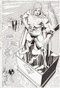 Original Comic Art:Splash Pages, Dan Jurgens and Brett Breeding Superman V2#76 Splash Page 21Original Art (DC, 1993)....
