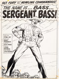 Original Comic Art:Splash Pages, Dick Ayers and John Severin Sgt. Fury #62 Splash Page 1Original Art (Marvel, 1969)....