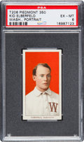 Baseball Cards:Singles (Pre-1930), 1909-11 T206 Piedmont Kid Elberfeld (Portrait, Washington) PSAEX-MT 6. . ...