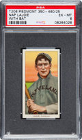 Baseball Cards:Singles (Pre-1930), 1909-11 T206 Piedmont Nap Lajoie (With Bat) PSA EX-MT 6. ...