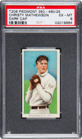 Baseball Cards:Singles (Pre-1930), 1909-11 T206 Piedmont Christy Mathewson (Dark Cap) PSA EX-MT 6. ...