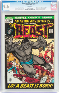 Amazing Adventures #11 The Beast (Marvel, 1972) CGC NM+ 9.6 White pages