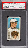 Baseball Cards:Singles (Pre-1930), 1909-11 T206 Sweet Caporal Walter Johnson (Hands at Chest) PSAEX-MT 6. ...