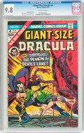 Bronze Age (1970-1979):Horror, Giant-Size Dracula #4 (Marvel, 1975) CGC NM/MT 9.8 Off-whitepages....