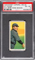 Baseball Cards:Singles (Pre-1930), 1909-11 T206 Sweet Caporal Cy Young (Bare Hand Shows) PSA EX-MT 6....