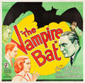 "Movie Posters:Horror, The Vampire Bat (Majestic, 1933). Six Sheet (80.5 X 78.5"").. ..."