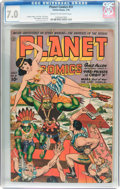 Golden Age (1938-1955):Science Fiction, Planet Comics #31 (Fiction House, 1944) CGC FN/VF 7.0 Cream to off-white pages....