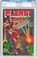 Golden Age (1938-1955):Science Fiction, Planet Comics #68 (Fiction House, 1952) CGC FN/VF 7.0 Off-white towhite pages....