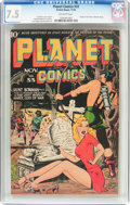 Golden Age (1938-1955):Science Fiction, Planet Comics #33 (Fiction House, 1944) CGC VF- 7.5 Off-whitepages....