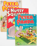 Golden Age (1938-1955):Funny Animal, Nutsy Squirrel/Peter Panda Group of 9 (Various Publishers, 1953-56)Condition: Average VG.... (Total: 9 Comic Books)