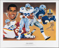 Football Collectibles:Photos, Dallas Cowboys Legends Signed Lithographs Lot of 3. ...
