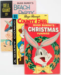 Silver Age (1956-1969):Miscellaneous, Dell Giant Comics - Bugs Bunny Group of 9 (Dell, 1950s-60s)Condition: Average FN.... (Total: 9 Comic Books)
