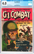 Golden Age (1938-1955):War, G.I. Combat #1 (Quality, 1952) CGC VG 4.0 Off-white to white pages....