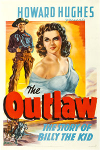 "The Outlaw (20th Century Fox, 1941). First Release One Sheet (27"" X 41"") Style A"