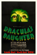 "Movie Posters:Horror, Dracula's Daughter (Universal, 1936). One Sheet (27"" X 41"").. ..."