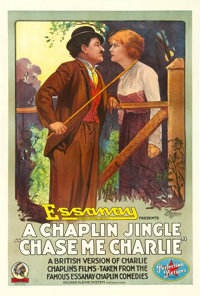 "Chase Me Charlie (Essanay, 1918). One Sheet (28"" X 42"")"