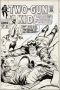 Original Comic Art:Covers, Ogden Whitney Two-Gun Kid #87 Cover Original Art (Marvel, 1967)....