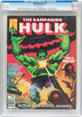 Magazines:Superhero, The Rampaging Hulk #1 (Marvel, 1977) CGC NM 9.4 White pages....