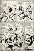 Original Comic Art:Panel Pages, Barry Smith Conan the Barbarian #1 Story Page 4 Original Art(Marvel, 1970)....