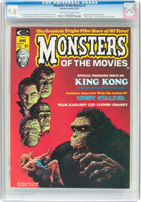 Monsters of the Movies #1 (Marvel, 1974) CGC NM/MT 9.8 Off-white to white pages