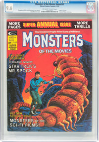 Monsters of the Movies Annual #1 (Marvel, 1975) CGC NM+ 9.6 Off-white to white pages