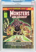 Magazines:Horror, Monsters Unleashed Annual #1 (Marvel, 1975) CGC NM/MT 9.8 White pages....