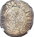 Colonials, 1652 SHILNG Oak Tree Shilling, IN at Left, MS65 NGC. CAC. Noe-1, W-430, Salmon 1-A, R.3....