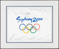 Olympic Collectibles:Autographs, Marion Jones Signed Sydney 2000 Summer Olympics Banner....