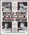 Boxing Collectibles:Memorabilia, 1993 Evander Holyfield vs. Alex Stewart Fight Poster....