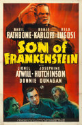 "Movie Posters:Horror, Son of Frankenstein (Universal, 1939). One Sheet (27"" X 41"") StyleA.. ..."