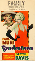 "Movie Posters:Crime, Bordertown (Warner Brothers, 1935). Midget Window Card (8"" X 14"")....."
