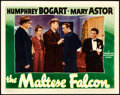 "Movie Posters:Film Noir, The Maltese Falcon (Warner Brothers, 1941). Lobby Card (11"" X 14"").From the collection of William E. Rea.. ..."