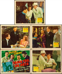 """Thank You, Mr. Moto (20th Century Fox, 1937). Title Lobby Card and Lobby Cards (4) (11"""" X 14""""). From the colle..."""