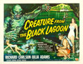 "Movie Posters:Horror, Creature from the Black Lagoon (Universal International, 1954). Half Sheet (22"" X 28"") Style B.. ..."