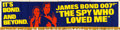 "Movie Posters:James Bond, The Spy Who Loved Me (United Artists, 1977). Satin Banner (25.5"" X 106"").. ..."