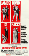 """Movie Posters:James Bond, From Russia with Love (United Artists, 1964). Three Sheet (41"""" X79"""") Style B.. ..."""