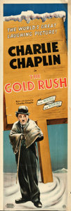 "Movie Posters:Comedy, The Gold Rush (United Artists, R-1942). British Door Panel (20"" X59.25"").. ..."