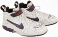 Basketball Collectibles:Others, Lindsey Hunter Game Worn, Signed Shoes....