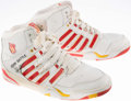 Basketball Collectibles:Others, John Battle Game Worn, Signed Cleveland Cavaliers Shoes....