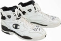 Basketball Collectibles:Others, Glen Rice Game Worn, Signed Shoes....