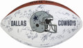 Football Collectibles:Balls, 1999 Dallas Cowboys Team Signed Football....